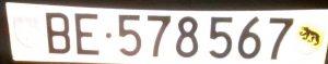 Autokennzeichen aus dem Kanton Bern.