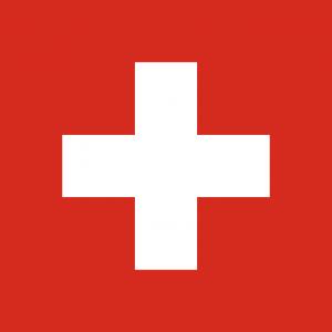 Auf den Kontrollschildern in der Schweiz befindet sich hinten das schweizer Wappen.