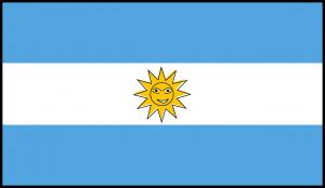 Autokennzeichen in Argentinien tragen das Landeswappen.