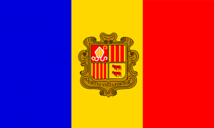 Autokennzeichen in Andorra nutzen das Wappen des Fürstentums.