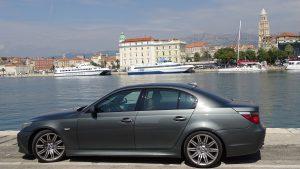 Der Altstadt-Hafen von Split in Kroatien.