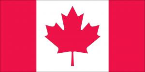 Die Autokennzeichen in Kanada werden teilweise nur am Heck angebracht. Vorne befindet sich häufig die Flagge Kanadas.