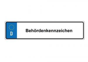 Behördenkennzeichen haben unterschiedliche Kürzel abhängig vom Bundesland.