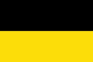 Die Flagge des Kaisertums Österreich von 1804 bis 1867 aus dem am 18.6.1867 die Realunion Österreich-Ungarn entstand.