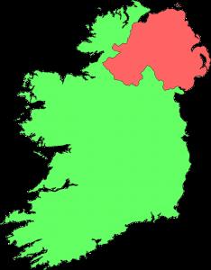Die Autokennzeichen in Nordirland unterscheiden sich von denen im restlichen Irland.