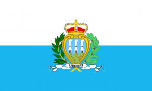 Autokennzeichen in San Marino tragen das Landeswappen.