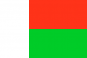 Die Kennzeichen des Militärs tragen auf Madagaskar die Landeslfagge.