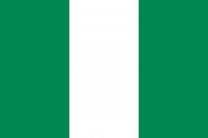 Auf den Autokennzeichen in Nigeria befindet sich links die Landesflagge.