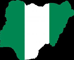 Auf den Autokennzeichen in Nigeria befindet ähnlich wie in den USA ein Umriss der Landeskarte.