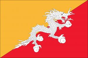 Autokennzeichen in Bhutan ermöglichen Rückschlüsse auf die Fahrzeugherkunft.