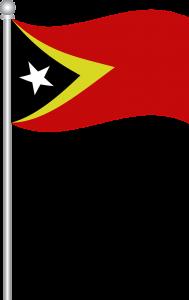 Autokennzeichen in Osttimor von Parlamentsmitglieder orientieren sich farblich an der Nationalflagge.