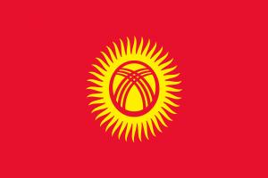 Die Autokennzeichen in Kirgistan enthalten die Landesflagge.