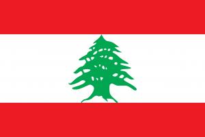 Auf den Autokennzeichen in Libanon enthält der blaue Balken im oberen Bereich die Zeder der Nationalflagge des Landes.