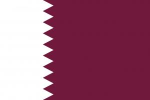 Autokennzeichen in Katar tragen die Landesflagge.