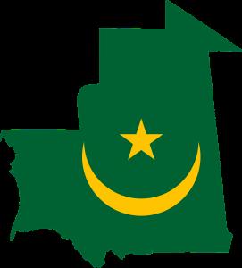 Die Autokennzeichen in Mauretanien tragen eine stilsierte Landkarte des Landes.