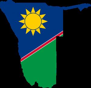 Wunschkennzeichen tragen in Namibia die Landesflagge.
