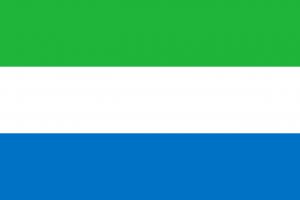 Die Autokennzeichen in Sierra Leone tragen links die Landesflagge.