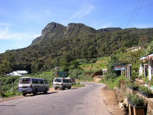 Autokennzeichen in Sri Lanka haben hinten eine gelbe Hintergrundfarbe.