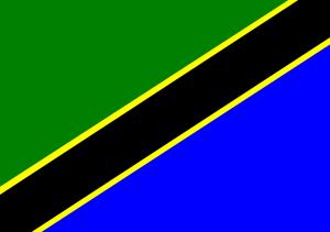 Kennzeichen in Tansania tragen die Landesflagge.