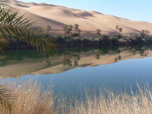 Wüste in Libyen.