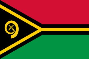 Die Landesflagge von Vanuatu.