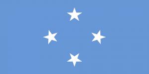 Die Landesflagge von Mikronesien.