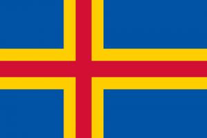 Die Landesflagge von Åland.