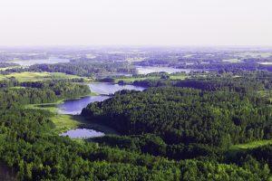 Die Kurische Nehrung ist eine 98 km lange Halbinsel an der Nordküste des Samlands. Sie beginnt in Lesnoi und geht bis zum Memeler Tief. Von ihr gehören seit 1945 die nördlichen 52 km zu Litauen und die südlichen 46 Kilometer zum russischen Oblast Kaliningrad.