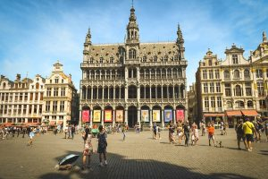 Das sehenswerte Rathaus in Brüssel.