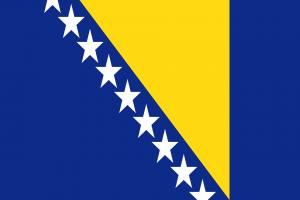 Die Landesflagge von Bosnien und Herzegowina.