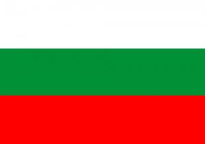 Die bulgarische Landesfahne.