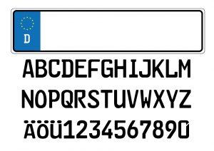Umlaute werden auf deutschen Autokennzeichen nur im Unterscheidungszeichen verwendet, jedoch nicht für die Erkennungsnummer.