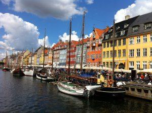Kopenhagen in Dänemark ist bei Touristen beliebt.