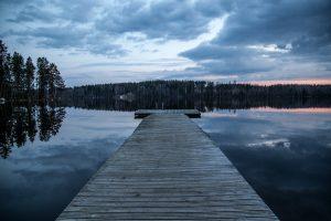 Einer der zahlreichen Seen in Finnland.