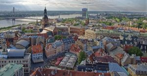 Die Landeshauptstadt Riga in Lettland (latvia).