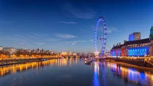 Das Riesenrad London-Eye in London zählt zu den Sehenswürdigkeiten der Stadt.