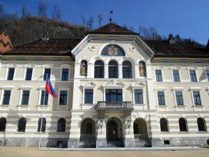 Das Regierungsgebäude des Fürstentums Liechtenstein.