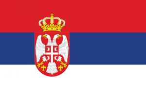 Die serbische Landesflagge.