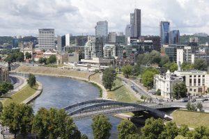 Die Landeshauptstadt Vilnius in Litauen.