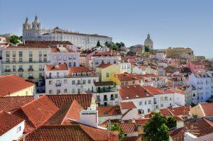Die Landeshauptstadt Lissabon in Portugal.