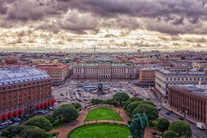 Die Stadt Sankt Petersburg, einstige Hauptstadt von Russland.
