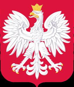 Das polnische Staatswappen mit dem Staatsadler.