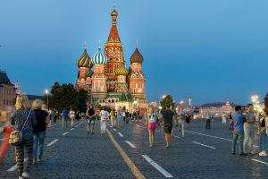 Der Rote Platz in Moskau.