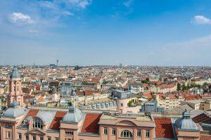Das Panorama von Wien.