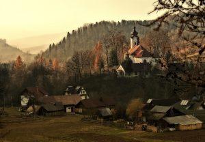 Stadt Szczwania in Kleinpolen, Malopolska..