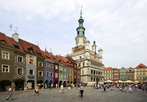 Die Stadt Posen (Posznan) in Polen.