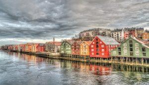 Reihenhäuser in Trondheim.