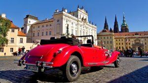 Autokennzeichen aus Prag.