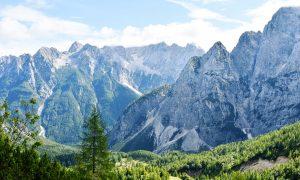 Die Julische Alpen mit dem Nationalpark Triglav.