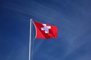 Die Landesfahne der Schweiz.